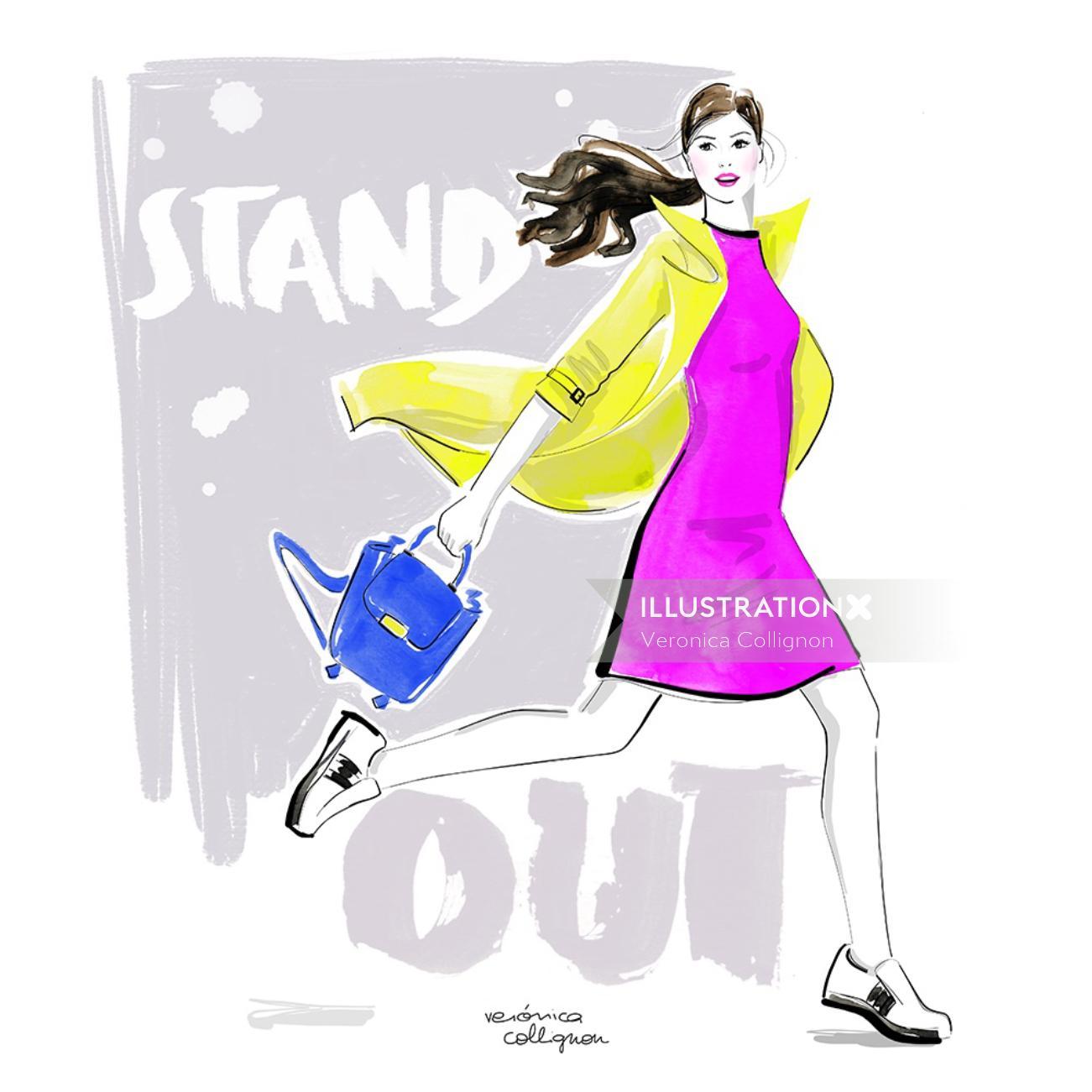 Fashion girl with bag
