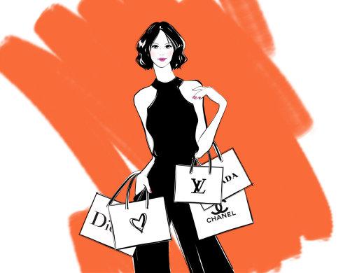 A las chicas les encanta ir de compras