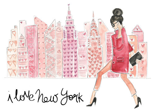New York fashion woman illustration by Veronica Collignon