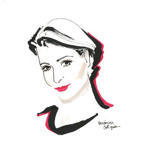 Evento en vivo dibujo boceto hermoso retrato