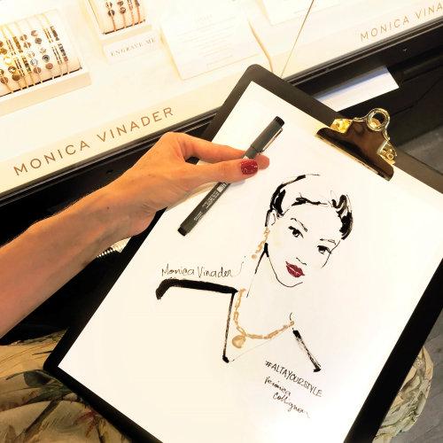 Dibujo del evento en vivo de Monica Vinader