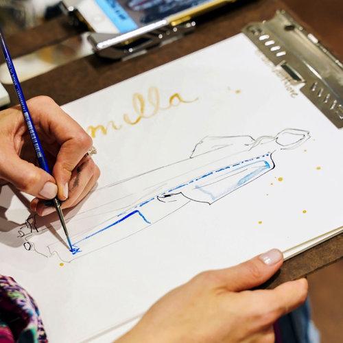 Dibujo de evento en vivo Camilla Sketch