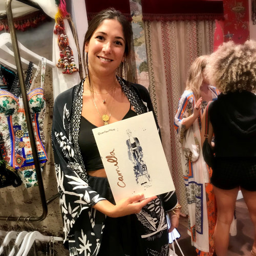 Evento en vivo dibujando Camilla Fashions