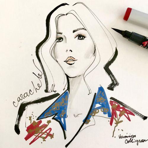 Fashion veronica collignon live drawing