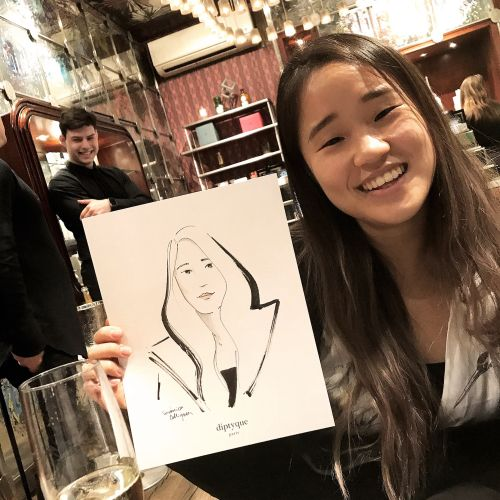 Live Event drawing smiley teenager sketch