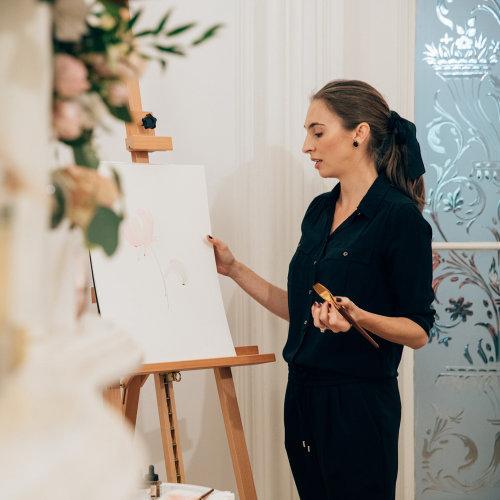 Dibujo de evento en vivo Veronica sketching