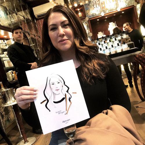 Evento en vivo Dibujo mujer con su boceto