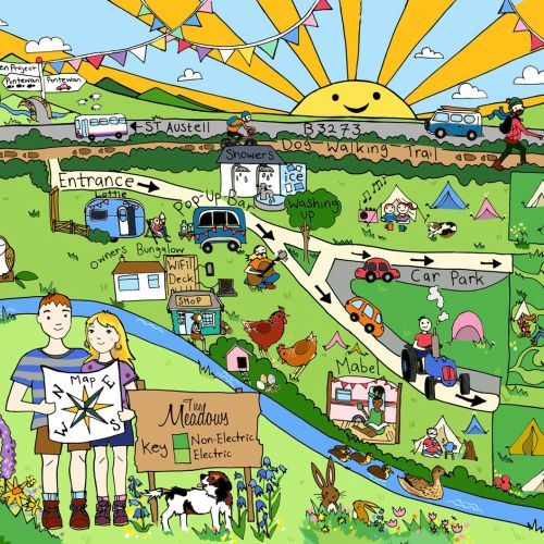 Graphic design of Meadows Campsite Map