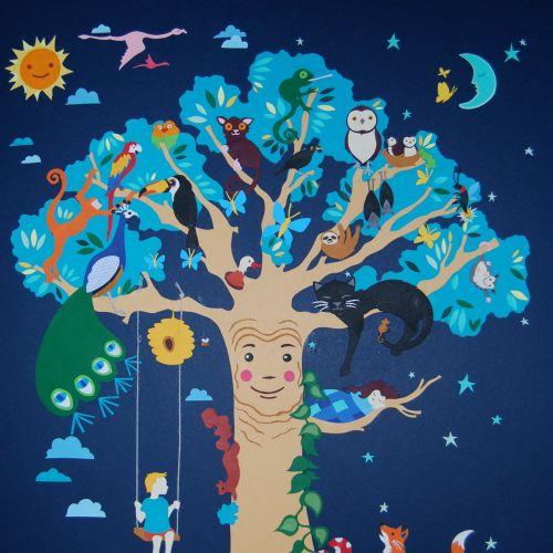 Enchanted Tree illustration by Vicky Scott