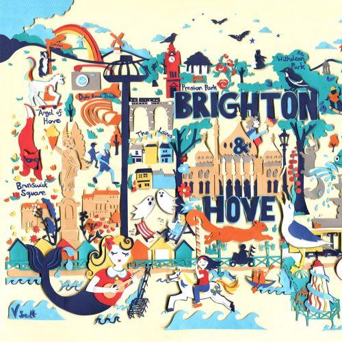Map illustration of Brighton