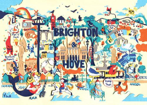 Ilustração do mapa de Brighton
