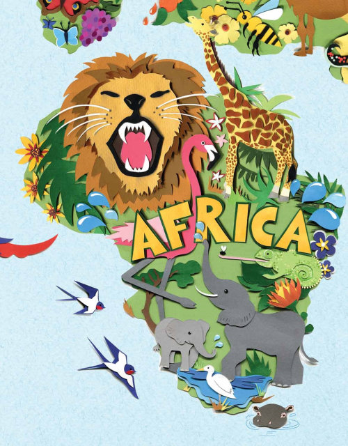 mapa, animais selvagens, áfrica, leão, elefante, girafa flamingo, andorinhas, camaleão