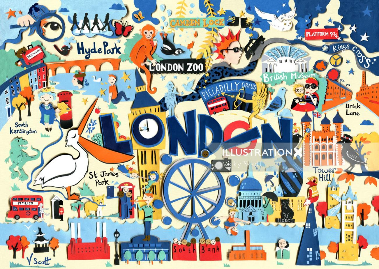london,queen, big ben, bus, taxi, zoo, owl, tower of london, dinosaur, monkey, penguin