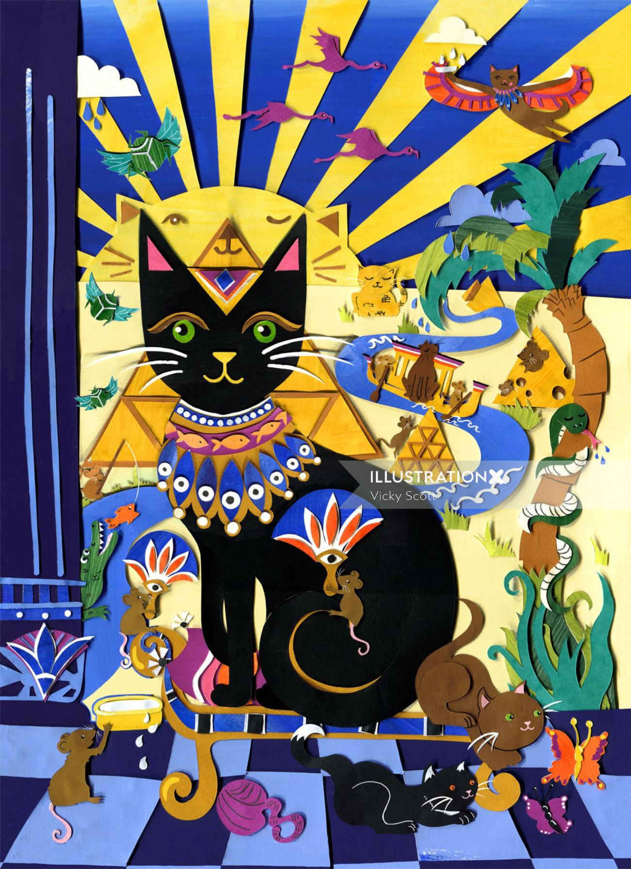 Illustration inspired by Ancient Egypt