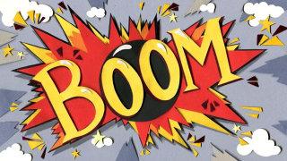 boom, pirates, explosion, bomb, tropical, stars, comedy