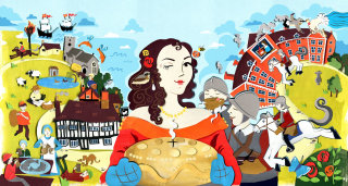 history, lady, stately home, tudor, horse, soldiers, armada, civil war, pie, food, birds