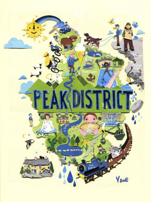 Design gráfico do Peak District Map