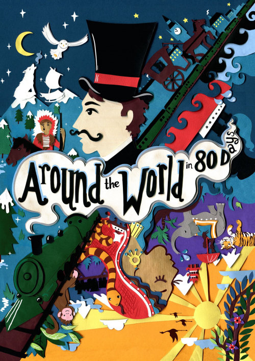 Cover illustration of Around the World in 80 Days
