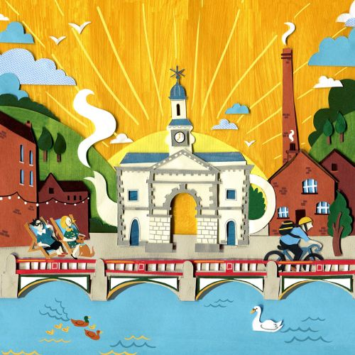 Kelham Island graphic illustration