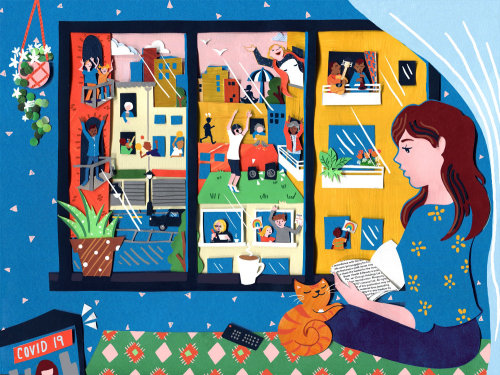 distanciamento social, covid 19, coronovírus, interior, gato, casa, exercício, paisagem urbana, cena urbana, mu