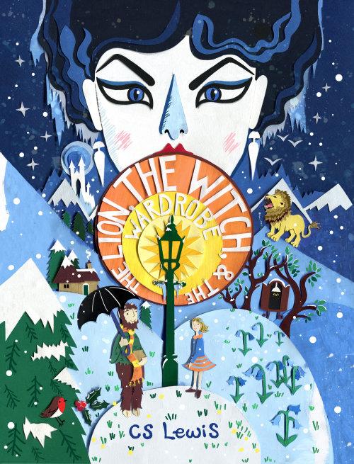 livro infantil, neve, cena de inverno, capa do livro, leão, bruxa, crianças, fantasia, robin, blu