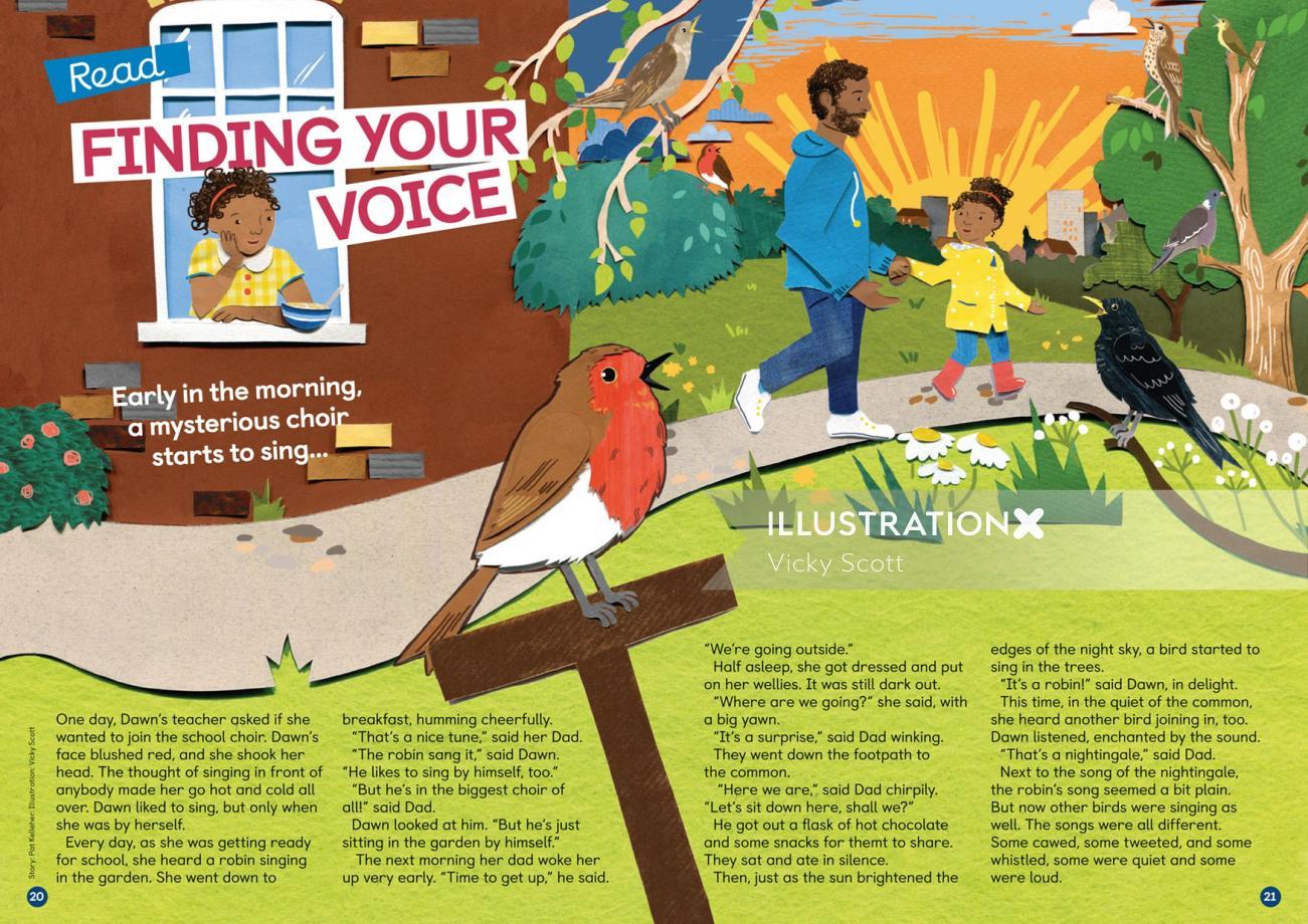 robin, children, blackbird, house, park, birds, nature, wildlife, daisy, sunrise, morning