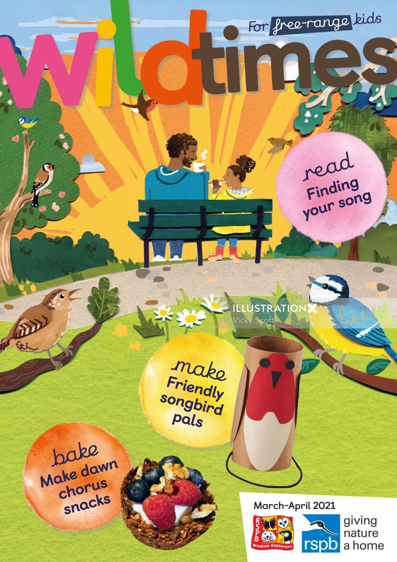 birds, children, sun, family, wildlife, nature, dawn chorus, trees, robin, bluetit