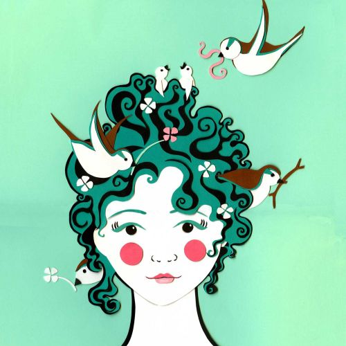 Vicky Scott Internationaler Collagenillustrator. Vereinigtes Königreich