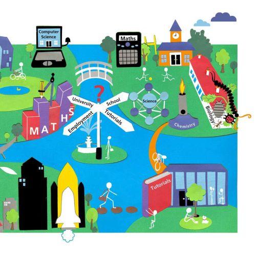 Cityscape illustration by Victoria Scott