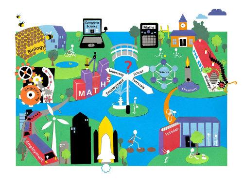 Ilustração da paisagem urbana de Victoria Scott