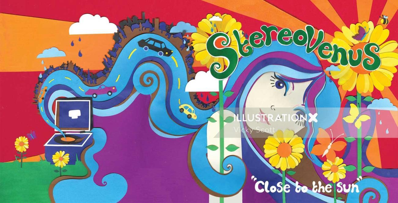 Illustration for band Stereovenus album