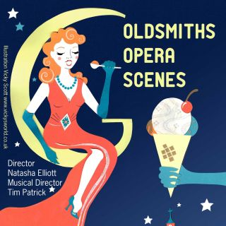 opera, 1940's, ice cream, moon, night, singing, vintage
