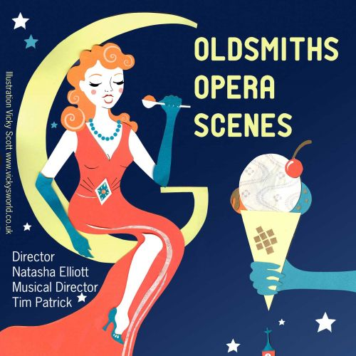 opera, 1940's, ice cream, moon, night, singing, vintage