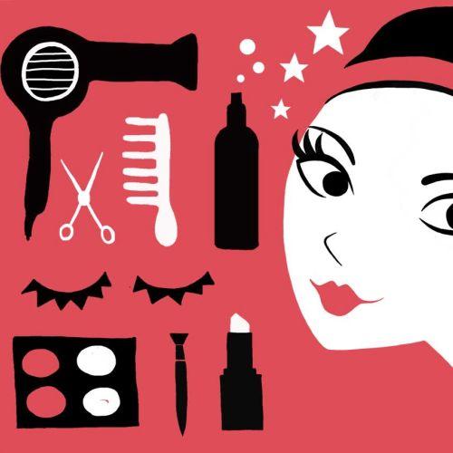 Illustration for beauty girl