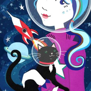 Space theme illustration by Vicky Scott