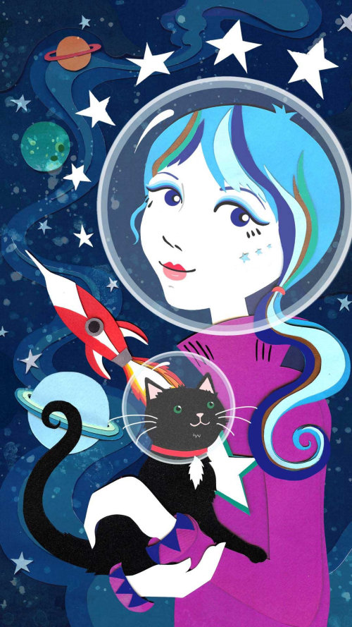 Ilustração do tema Space por Vicky Scott