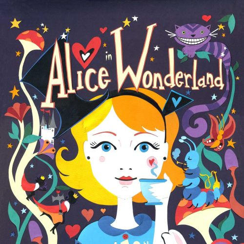 Alice in Wonderland illustration by Vicky Scott