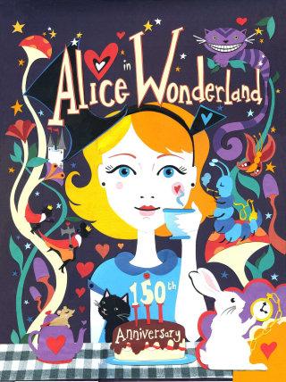 Alice in Wonderland illustration by Vicky Scott