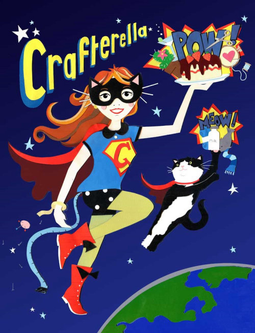 Ilustração do super-herói de Vicky Scott