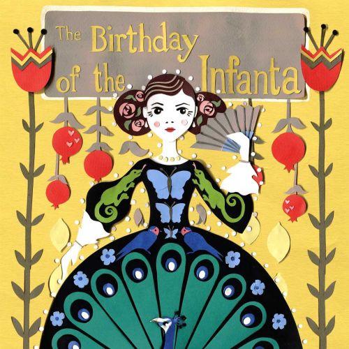 peacock, princess, birds, lizards, fruit, butterfly, collage,book cover, oscar wilde
