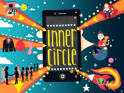 Ilustração da capa do Inner Circle App