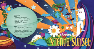 Album cover artwork for 60's inspired band Vienna Sunset