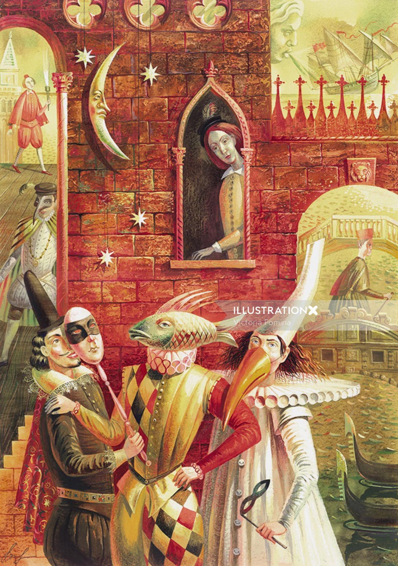 Fantasy poster A Merchant of Venice, Pan Press