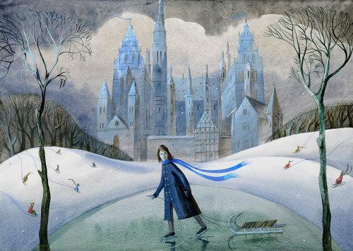 The snow queen children book graphic design