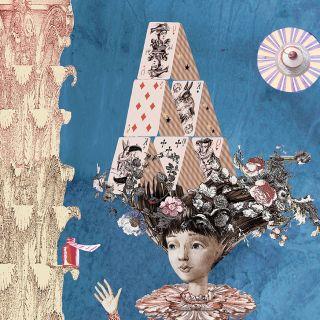 Alice in wonderland fantasy graphic design