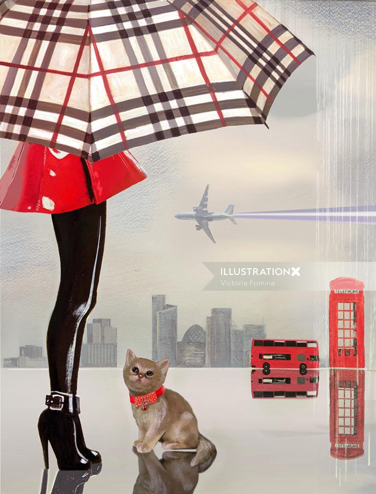 Cats and the city Graphic design