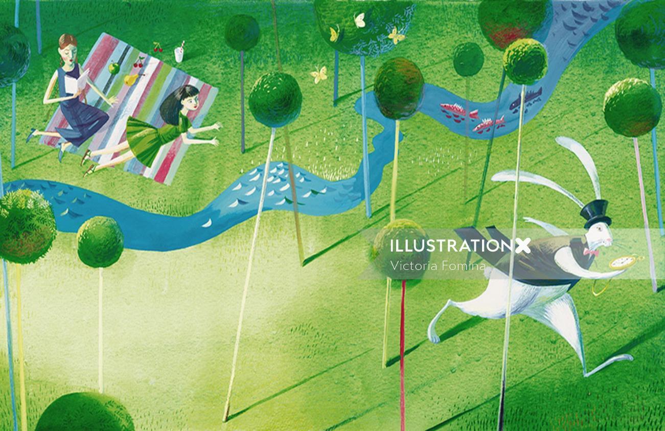 Alice in wonderland fantasy art for samsung