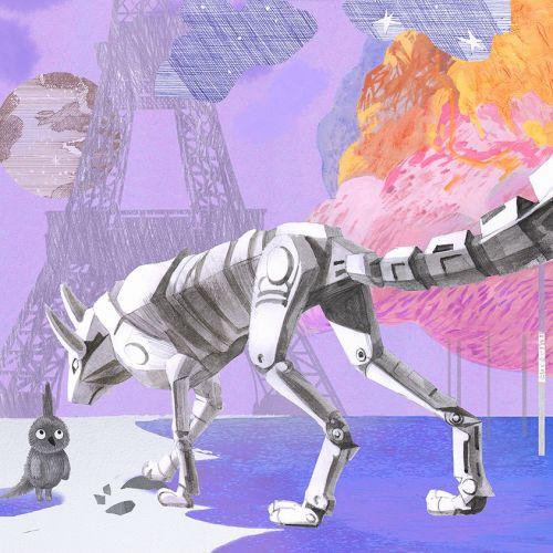 Princesses and unicorns Retro art