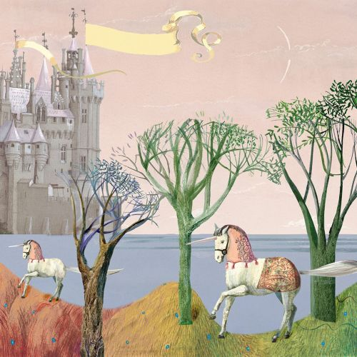 Princesses and Unicorns Childrens book Graphic design