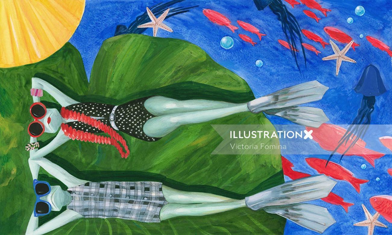 Retro art Athanase et la grenouille charity edition